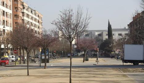 La rambla de Pardinyes és un dels carrers amb arbres morts.