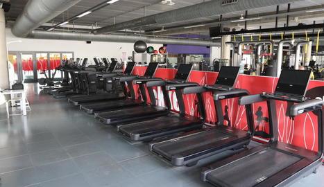 Imatge insòlita de les instal·lacions buides del gimnàs Ekke.