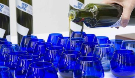 Preparació de mostres d'oli d'oliva per efectuar un tast a cegues.