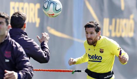 Messi, durant un entrenament recent amb el FC Barcelona.