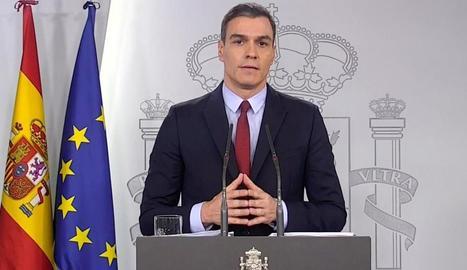 La compareixença de Pedro Sánchez es va demorar fins a les 21.00 hores.