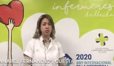 Campaña de salud de las enfermeras de Lleida para la población confinada