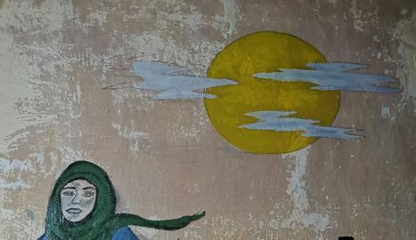 L'Alba i els seus companys de viatge van pintar aquest mural com a record de la seua estada.