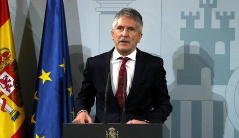 El ministre de l'Interior, Fernando Grande-Marlaska.