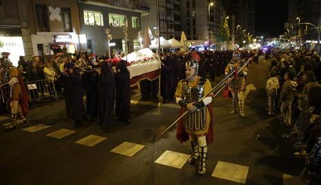 Una processó de Setmana Santa a Lleida.