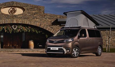 Toyota España llança una nova variant del Toyota Proace Verso Camper, el monovolum camperitzat destinat principalment a les famílies que gaudeixen de l'oci a l'aire lliure i necessiten un vehicle versàtil i pràctic. El nou acabat Nomad Plus Home va un pas més enllà, a l'incorporar un nou tipus de sostre elevable, amb obertura davantera panoràmica i nous tancaments més senzills i fàcils d'utilitzar, per facilitar les operacions d'obertura i tancament. Inclou obertura pneumàtica i estructura de llit de 2x1,30 metres amb somier de discos flexibles ergonòmics i matalàs.