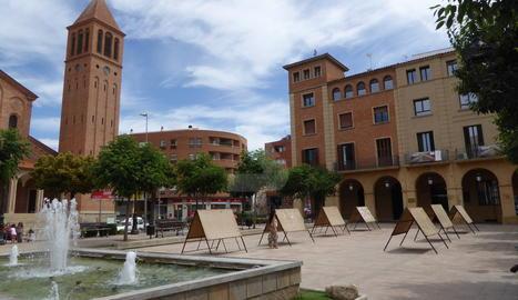 Imatge d'arxiu de la plaça Major de Mollerussa.