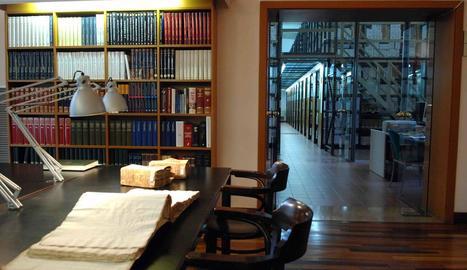 Vista de l'Arxiu Comarcal de la Segarra, que ha rebut una còpia digital del pergamí de Guinedilda.