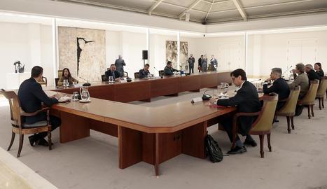La reunió del comitè tècnic de gestió del coronavirus aquest dimarts.