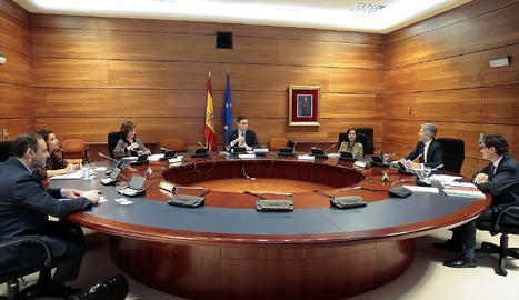 La reunió del consell de ministres aquest dimarts.