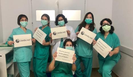 Lleida.net va entregar a l'hospital Arnau de Vilanova les màscares que va comprar per al Congrés Mundial de Mòbils, que va ser suspès pel coronavirus.