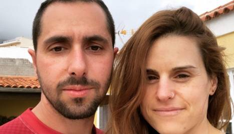 Els dos veïns de Mollerusa, David Seseña i Anabel Segura.