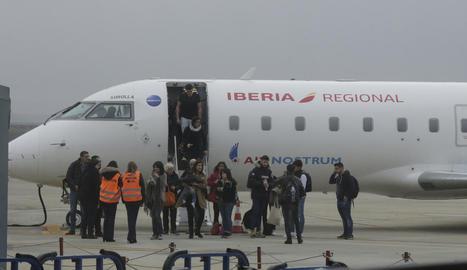 Imatge d'arxiu del vol regular que uneix l'aeroport d'Alguaire amb Palma de Mallorca.