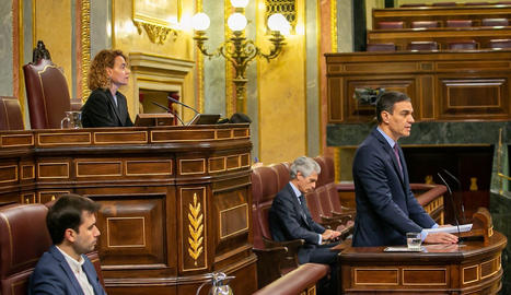 Pedro Sánchez, aquest dimecres al Congrés.