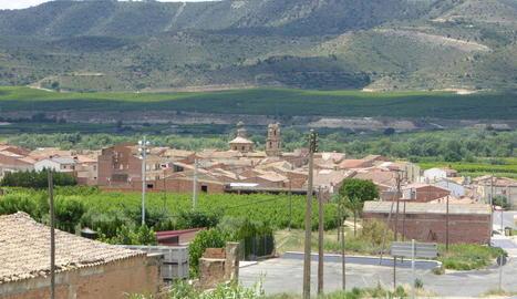 Vista panoràmica de Massalcoreig, al Baix Segre.