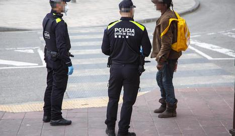 Imatge d'una de les identificacions d'ahir a Tàrrega.