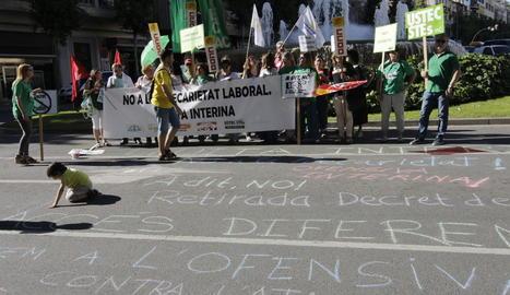 Imatge d'arxiu d'una manifestació contra la interinitat.