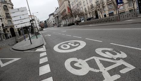 Un carrer de Madrid.