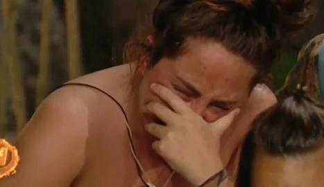 Rocío Flores, desconsolada.