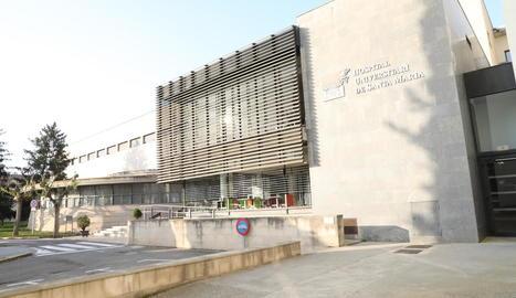 Imatge de l'exterior de l'edifici de l'hospital Santa Maria.