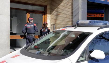 Imatge d'arxiu d'uns mossos d'esquadra.