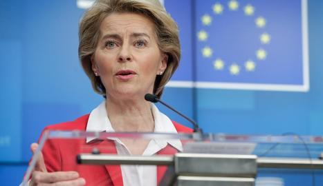 La cap de l'Executiu comunitari, Ursula van der Leyen, va anunciar les noves mesures econòmiques.