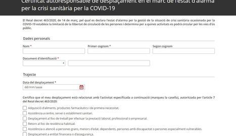 Descarrega't el certificat web d'Interior per a desplaçaments