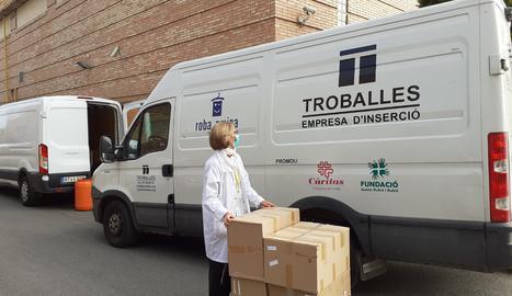 Troballes també dona material sanitari a l'Arnau de Vilanova de Lleida