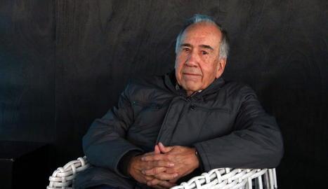 Joan Margarit, el 14 de novembre passat a l'anunciar-se que havia guanyat el Premi Cervantes.
