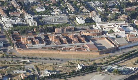 Imatge aèria de la presó de Lleida.