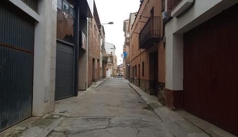El carrer Sant Sebastià d'Alfarràs, on es començarà a actuar.