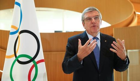 Thomas Bach va assegurar ahir que el COI no volia cancel·lar els Jocs sota cap concepte.