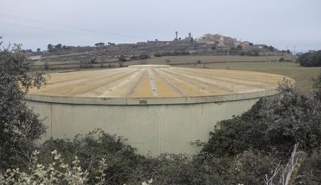 El dipòsit d'aigua ubicat a Palou.