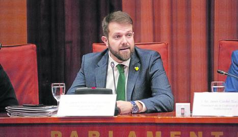 Gerard Figueras, secretari general de l'Esport, en la compareixença al Parlament.