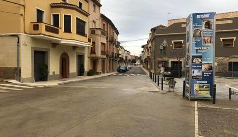 Imatge del carrer Reverend Pare Mirats de Montgai.