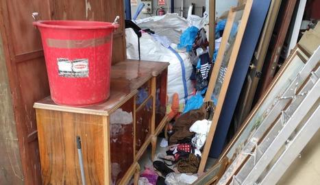 Instal·lacions de la deixalleria de Tàrrega després del robatori.