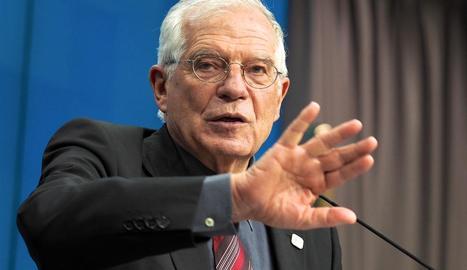 El cap de la diplomàcia europea, Josep Borrell, en una imatge del mes de febrer.