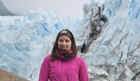 Ariadna Sánchez, de Vallfogona de Balaguer, fa pràctiques universitàries a El Calafate.