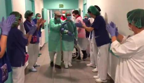L'Hospital de la Seu dóna d'alta un ancià de 93 anys després de passar la fase crítica del virus