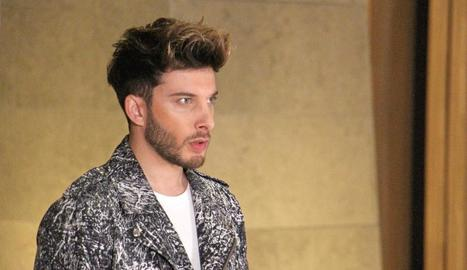 El representant espanyol al festival d'Eurovisió, Blas Cantó.
