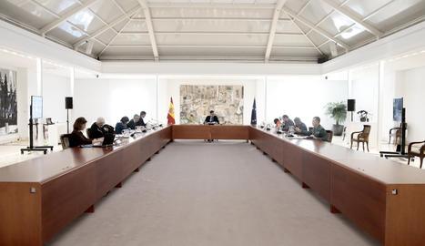 La reunió del comitè de gestió tècnic del coronavirus a Moncloa.