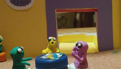 Dos nens de Tàrrega graven un vídeo 'stop motion' per agrair la tasca dels sanitaris