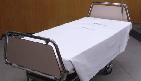 Un dels llits articulats.