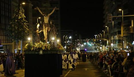 Processó del Sant Enterrament de Lleida l'any passat.