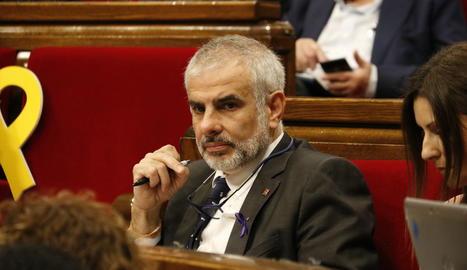 El president del grup parlamentari de Ciutadans, Carlos Carrizosa
