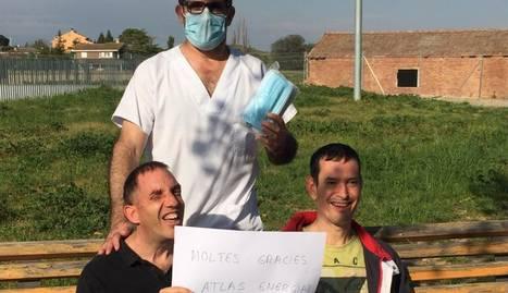 Atlas Energia dóna milers de mascaretes a centres de persones amb discapacitat i residències de Lleida