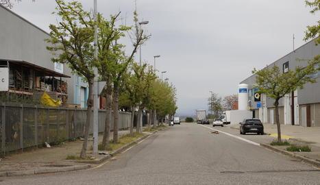 Imatge d'un dels polígons industrials de Lleida ciutat, on s'incrementarà l'activitat.