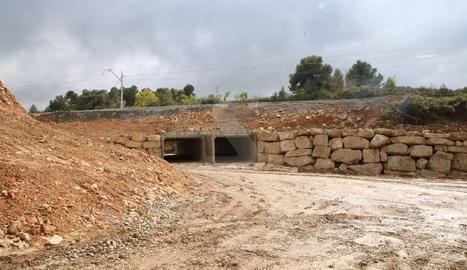 Un dels trams més danyats a Vinaixa, reconstruït amb mesures per evitar noves inundacions