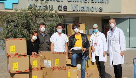 El Grup Sitgetana dóna 500 parells de sabatilles per al personal sanitari de Lleida