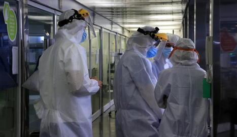 ProfessiProfessionals sanitaris de l'Hospital del Maronals sanitaris de l'Hospital del Mar